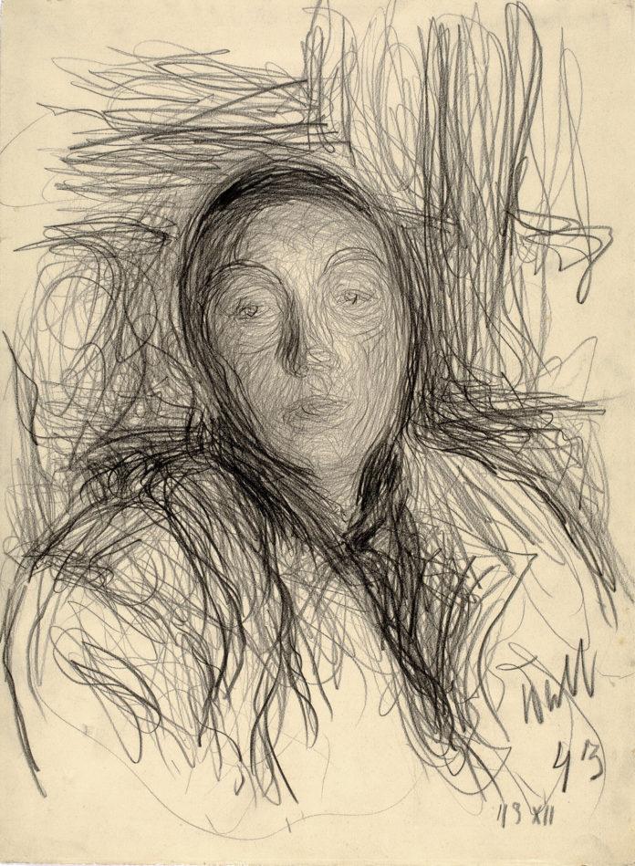П.Митурич. Портрет Мая. 1943. Бумага, карандаш