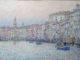 «Вечернее солнце. Большой Канал». 80 x180 см, левкас на доске, темпера, акрил, 2020